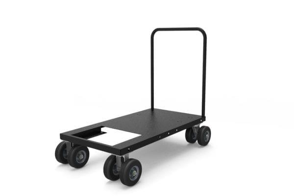 Standard Black-Jack Hydro-Ace Manual Push Cart with All-terrain Dual Tire Wheels