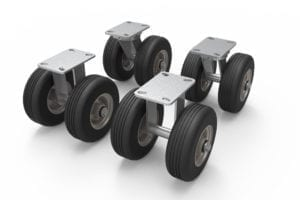 Black-Jack Cart Dual Non-Flat All-Terrain 4-Wheel Kit