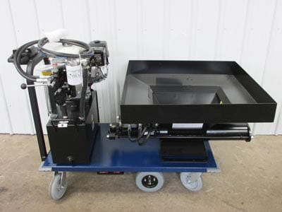 Hopper Extension - Low-Profile (Example Mounting) Grout Pumps Mortar Pumps