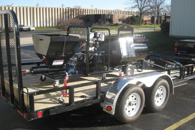 Double Axle Trailer Package Grout Pumps Mortar Pumps