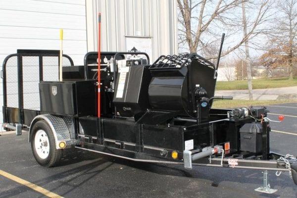 Single-Axle Trailer Package Grout Pumps Mortar Pumps